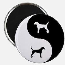 Yin Yang Foxhound Magnet