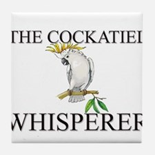 The Cockatiel Whisperer Tile Coaster