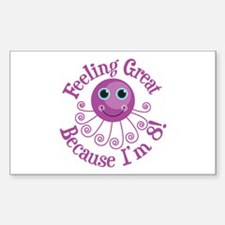 8th Birthday Rectangle Decal