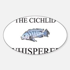 The Cichlid Whisperer Oval Decal