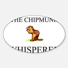 The Chipmunk Whisperer Oval Decal
