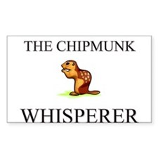 The Chipmunk Whisperer Rectangle Decal
