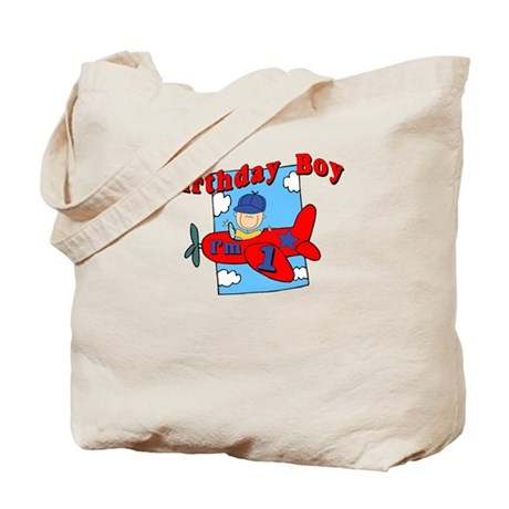 1st Birthday Airplane Tote Bag