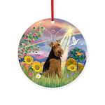 Cloud Angel Welsh Terrier Ornament (Round)