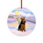 Welsh Terrier Angel Ornament (Round)