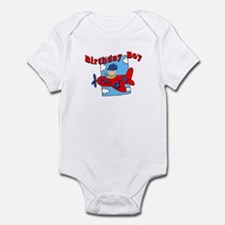 4th Birthday Airplane Infant Bodysuit