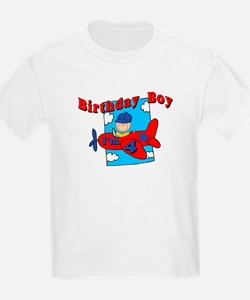 4th Birthday Airplane T-Shirt