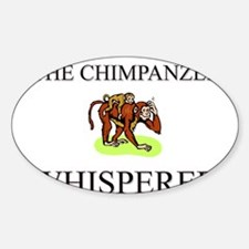 The Chimpanzee Whisperer Oval Decal