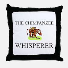 The Chimpanzee Whisperer Throw Pillow