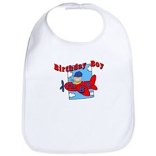 8th Birthday Airplane T-Shirt Bib