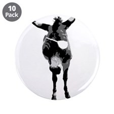 """Happy Donkey Pirate 3.5"""" Button (10 pack)"""
