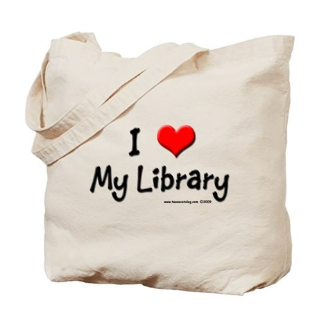 I luv my Library Tote Bag