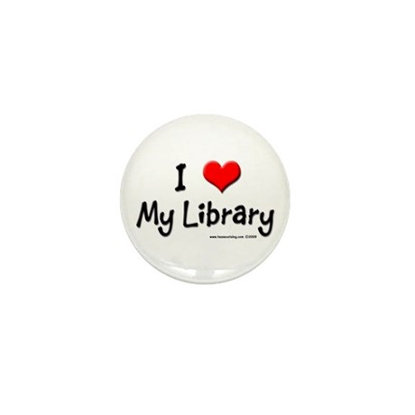 I luv my Library Mini Button