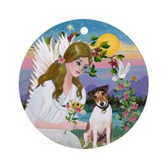 Angel & Jack Russell Terrier Ornament (Round)