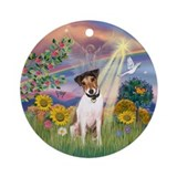 Sunflowers and jack russell Ornaments