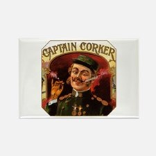 Captain Corker Cigar Label Rectangle Magnet