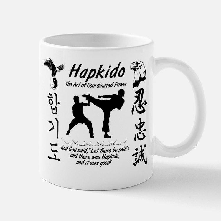 Hapkido Shirt trim white Mugs