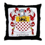 Yeston Coat of Arms Throw Pillow