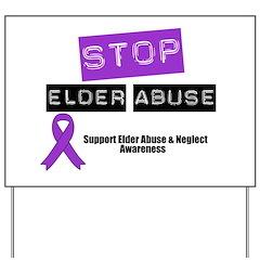Stop Elder Abuse Yard Sign
