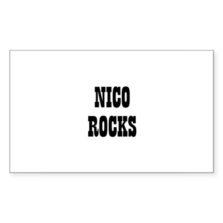 NICO ROCKS Rectangle Sticker