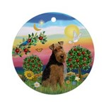 Welsh Terrier Bright Country Ornament (Round)
