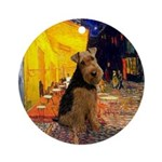 Cafe & Welsh Terrier Ornament (Round)