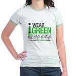 I Wear Green SCT Survivor Jr. Ringer T-Shirt