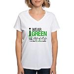 I Wear Green SCT Survivor Women's V-Neck T-Shirt