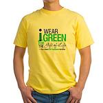 I Wear Green SCT Survivor Yellow T-Shirt