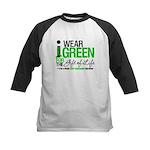 I Wear Green SCT Survivor Kids Baseball Jersey