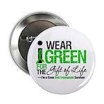 """I Wear Green SCT Survivor 2.25"""" Button (10 pack)"""