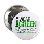 """I Wear Green SCT Survivor 2.25"""" Button (100 pack)"""