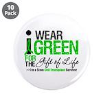 """I Wear Green SCT Survivor 3.5"""" Button (10 pack)"""