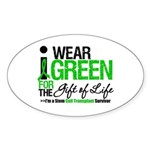 I Wear Green SCT Survivor Oval Sticker