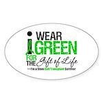 I Wear Green SCT Survivor Oval Sticker (10 pk)