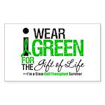 I Wear Green SCT Survivor Rectangle Sticker