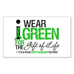 I Wear Green SCT Survivor Rectangle Sticker 50 pk