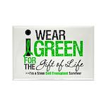 I Wear Green SCT Survivor Rectangle Magnet (10 pac