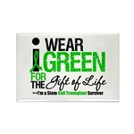 I Wear Green SCT Survivor Rectangle Magnet (100 pa