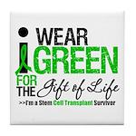 I Wear Green SCT Survivor Tile Coaster