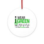 I Wear Green SCT Survivor Ornament (Round)