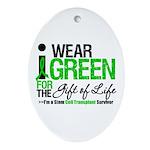I Wear Green SCT Survivor Oval Ornament