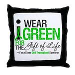 I Wear Green SCT Survivor Throw Pillow