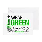 I Wear Green SCT Survivor Greeting Card
