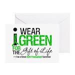 I Wear Green SCT Survivor Greeting Cards (Pk of 10