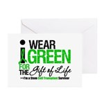 I Wear Green SCT Survivor Greeting Cards (Pk of 20