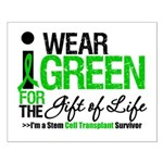 I Wear Green SCT Survivor Small Poster