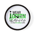 I Wear Green SCT Survivor Wall Clock
