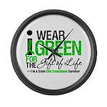 I Wear Green SCT Survivor Large Wall Clock