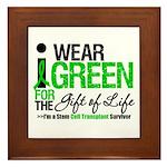 I Wear Green SCT Survivor Framed Tile